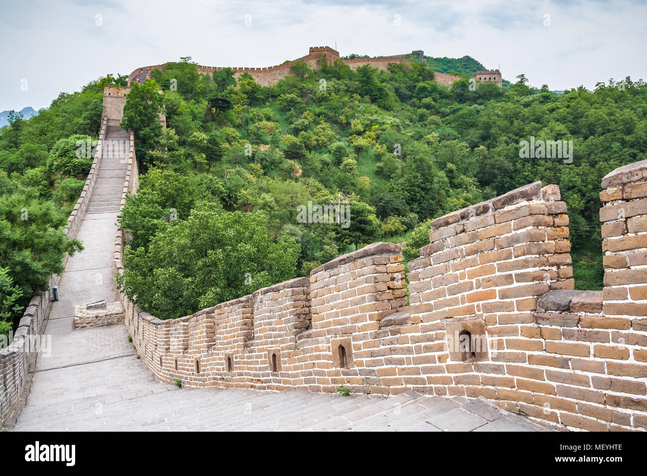Beijing, China, the majestic Great Wall. - Stock Image