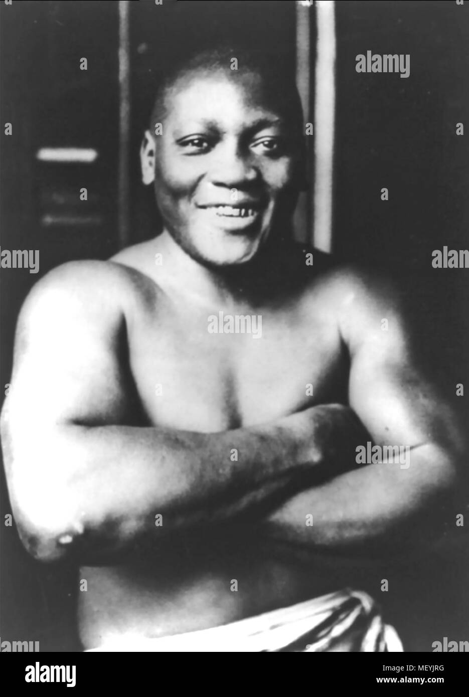 JACK JOHNSON (1878-1946) American boxer who was World Heavyweight Champion 1908-1915). Photo taken 1915 - Stock Image