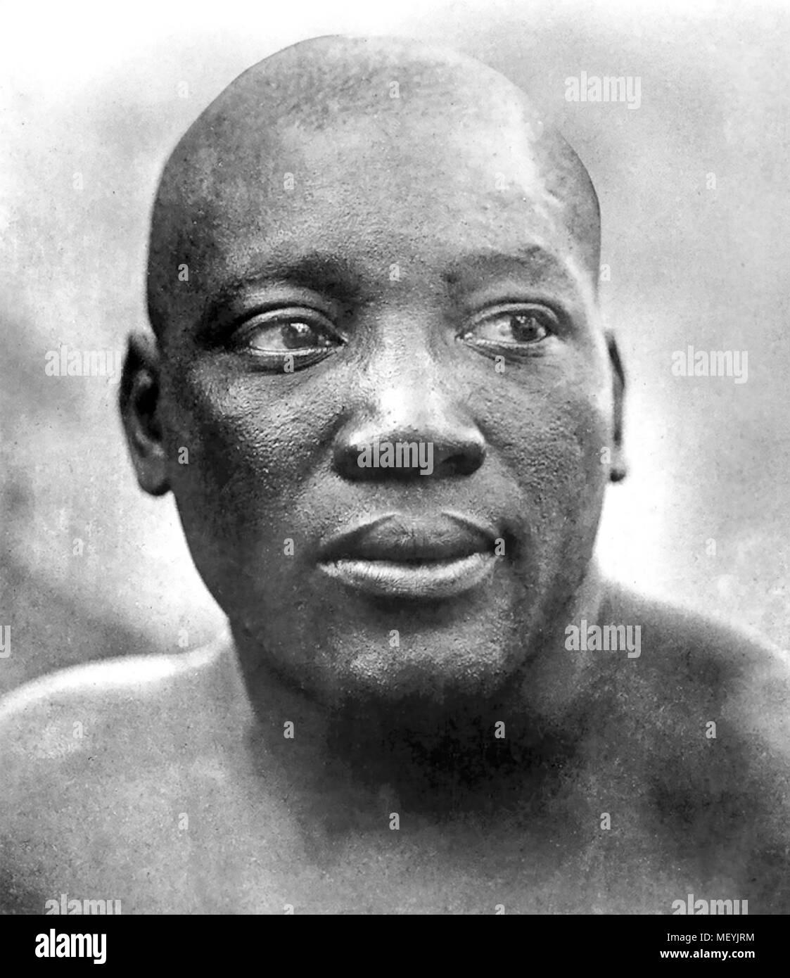 JACK JOHNSON (1878-1946) American boxer who was World Heavyweight Champion 1908-1915) - Stock Image