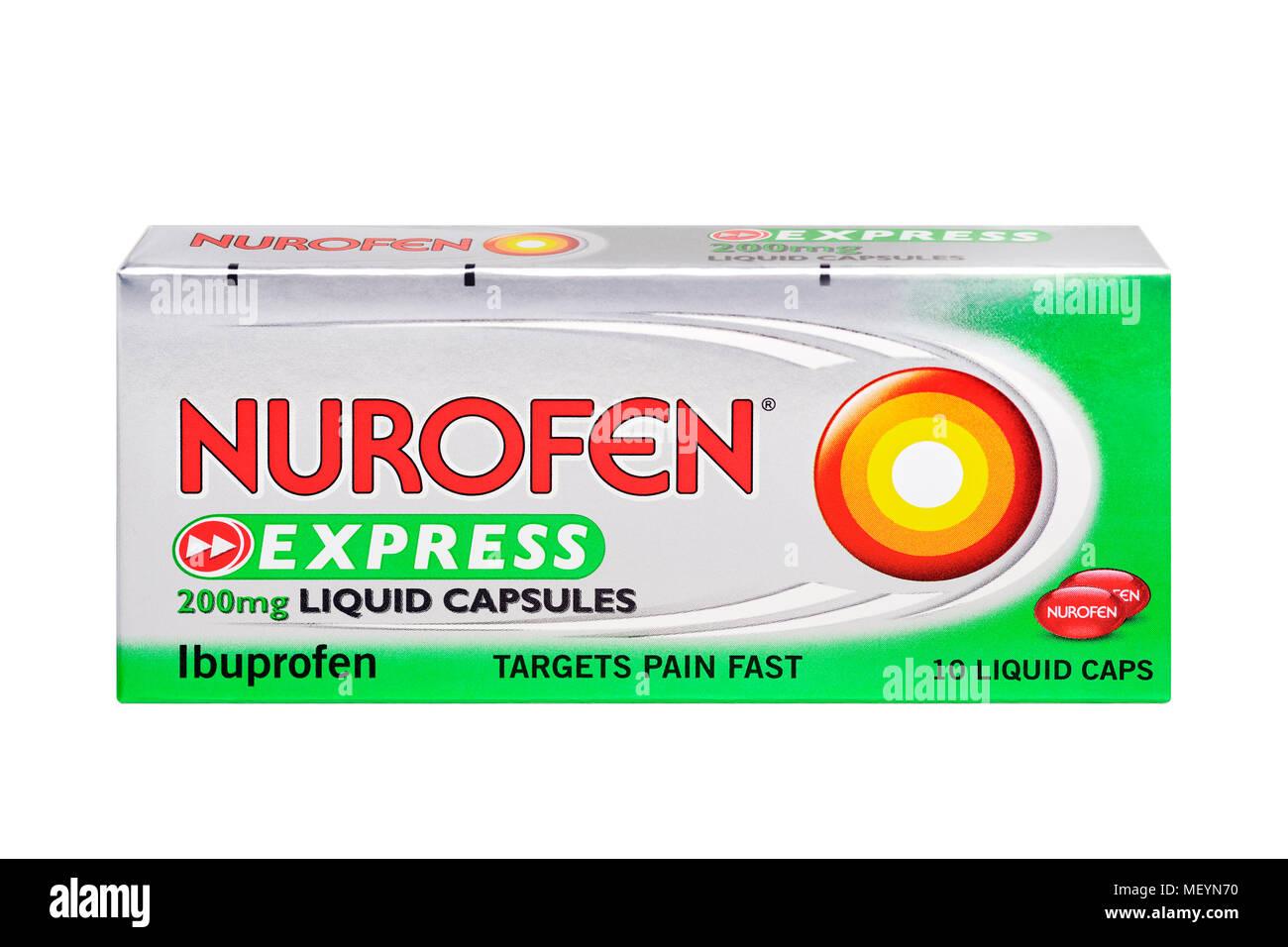Nurofen Express Box, Cut Out - Stock Image