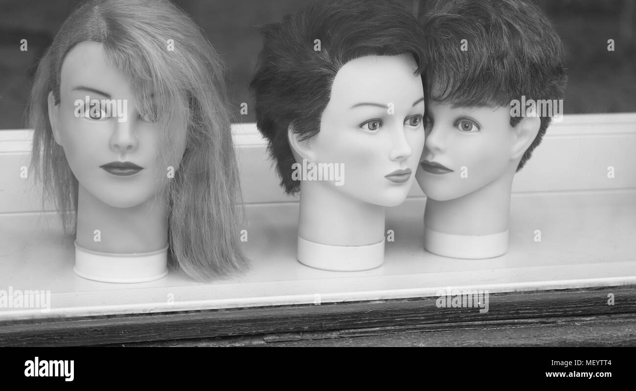 Hairstyles. Models at the hairdressers - Stock Image