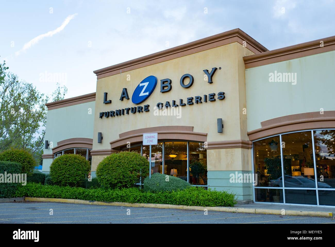 Facade With Sign And Logo At The La Z Boy Furniture Store In Pleasanton,  California, April 16, 2018. ()