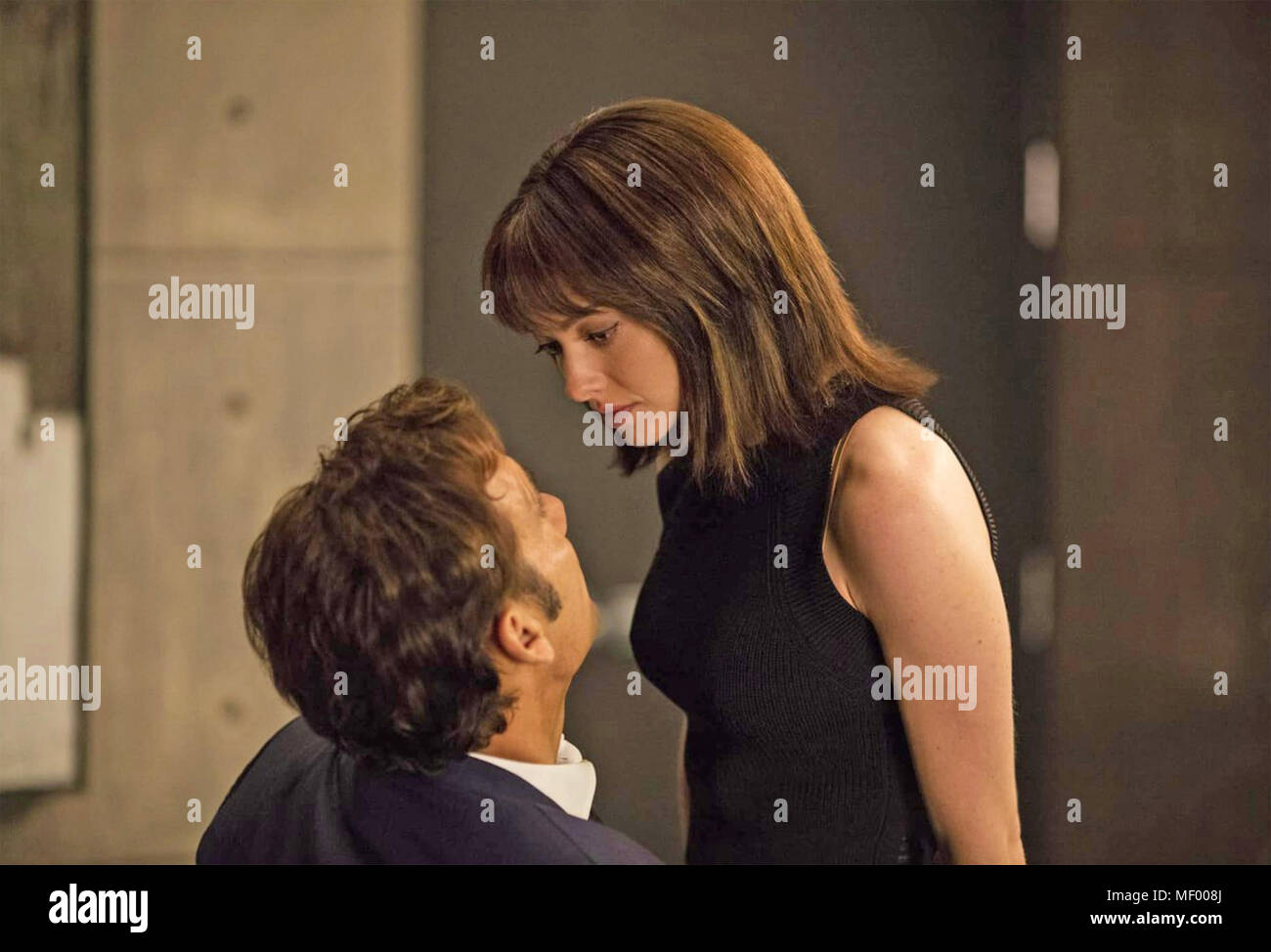 ANON 2018 Netflix film with Amanda Seyfried and Clive Owen - Stock Image