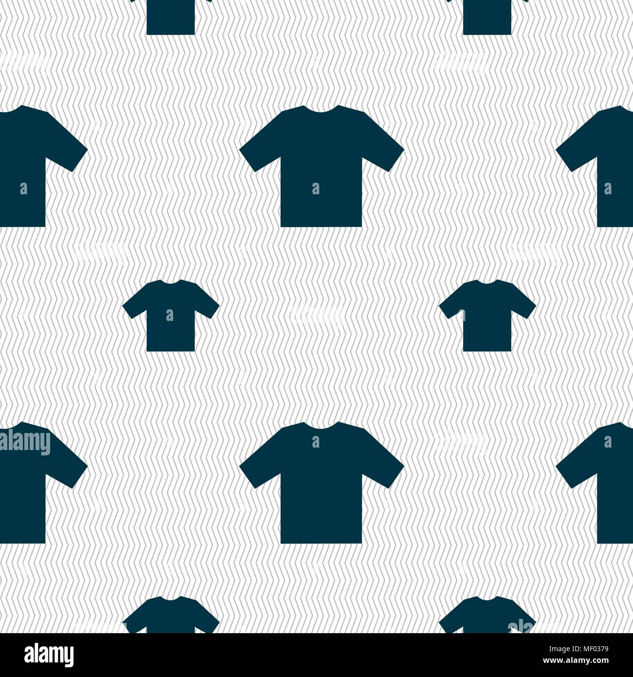 t-shirt icon sign  Seamless pattern with geometric texture