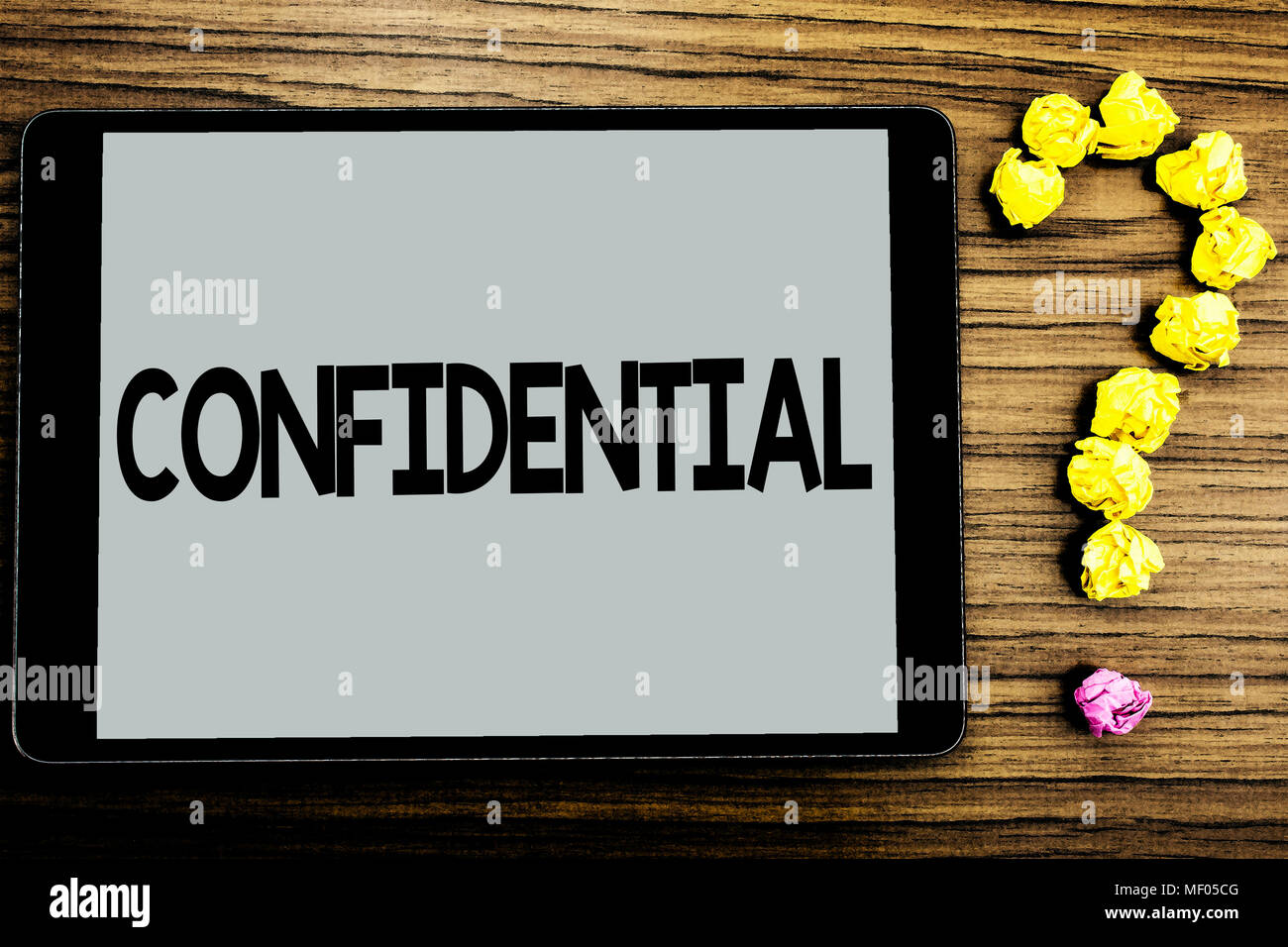 conceptual hand writing showing confidential business photo