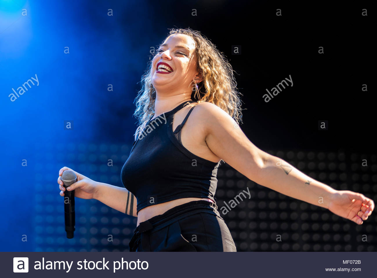 Supa Dupa performing live at the first edition of MUSILAC Mont-Blanc music festival in Chamonix (France) - 20 April 2018 - Stock Image