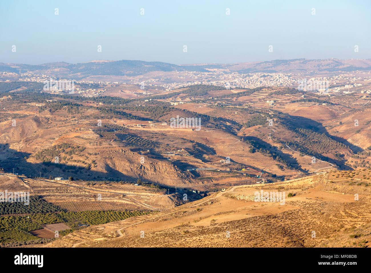 Rural landscape in Jordan - Stock Image