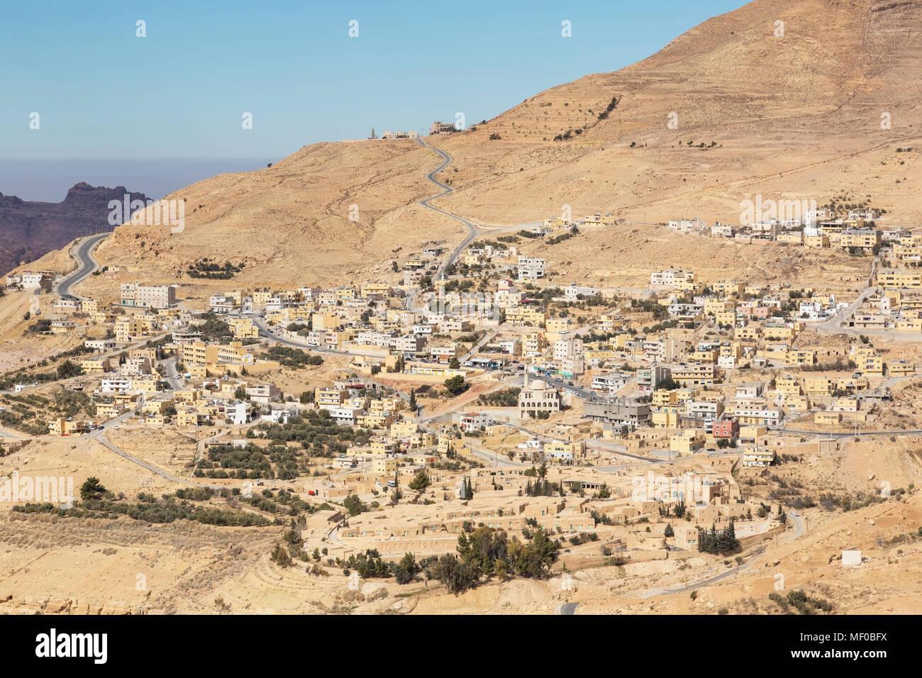 Wadi Musa, small town near Petra, Jordan - Stock Image