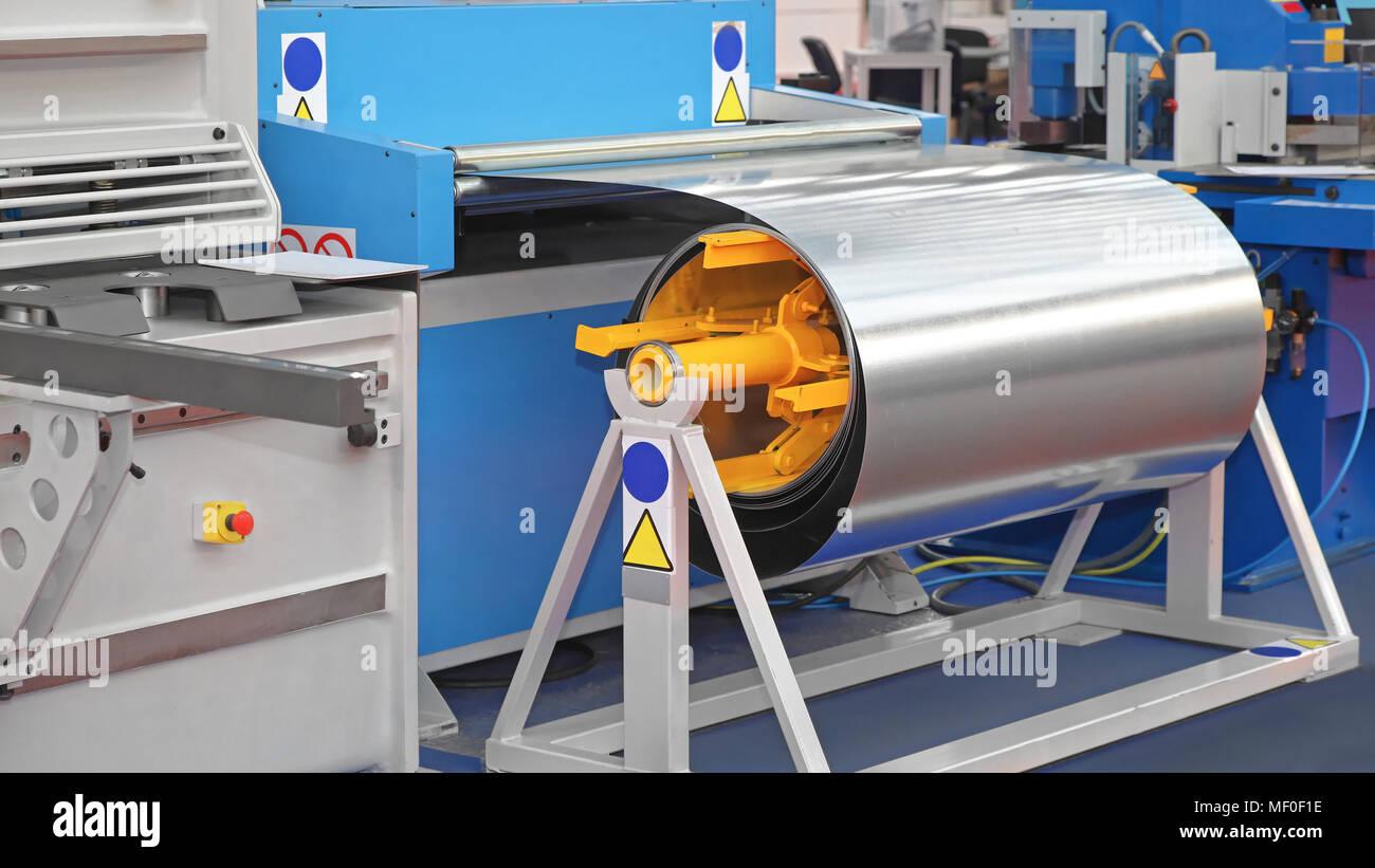 Steel Coil Processing Machine Equipment - Stock Image