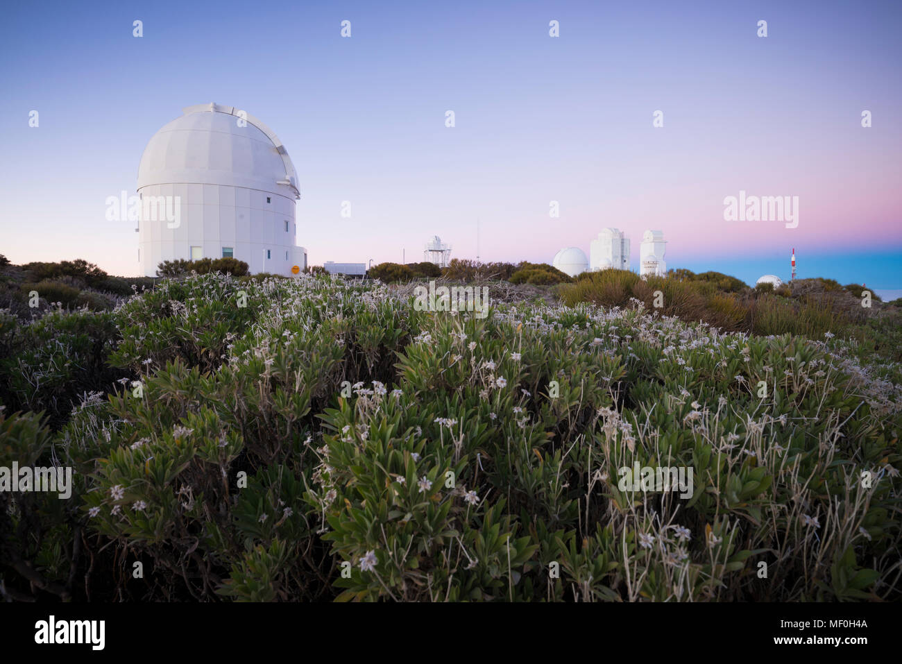 Spain, Canary Islands, Tenerife, Teide observatory - Stock Image