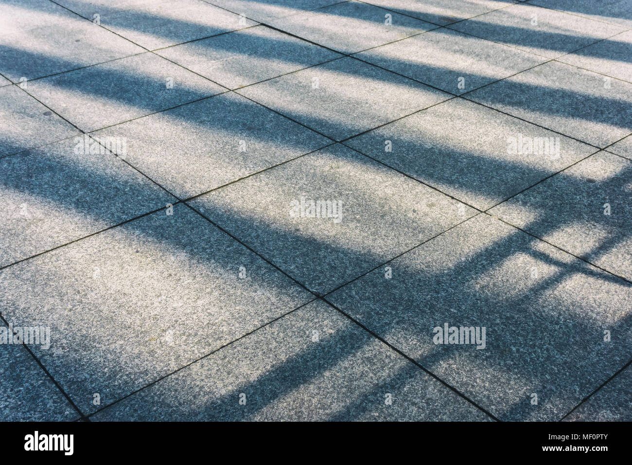 Long shadow of built structure of Potsdamer Platz Station - Stock Image