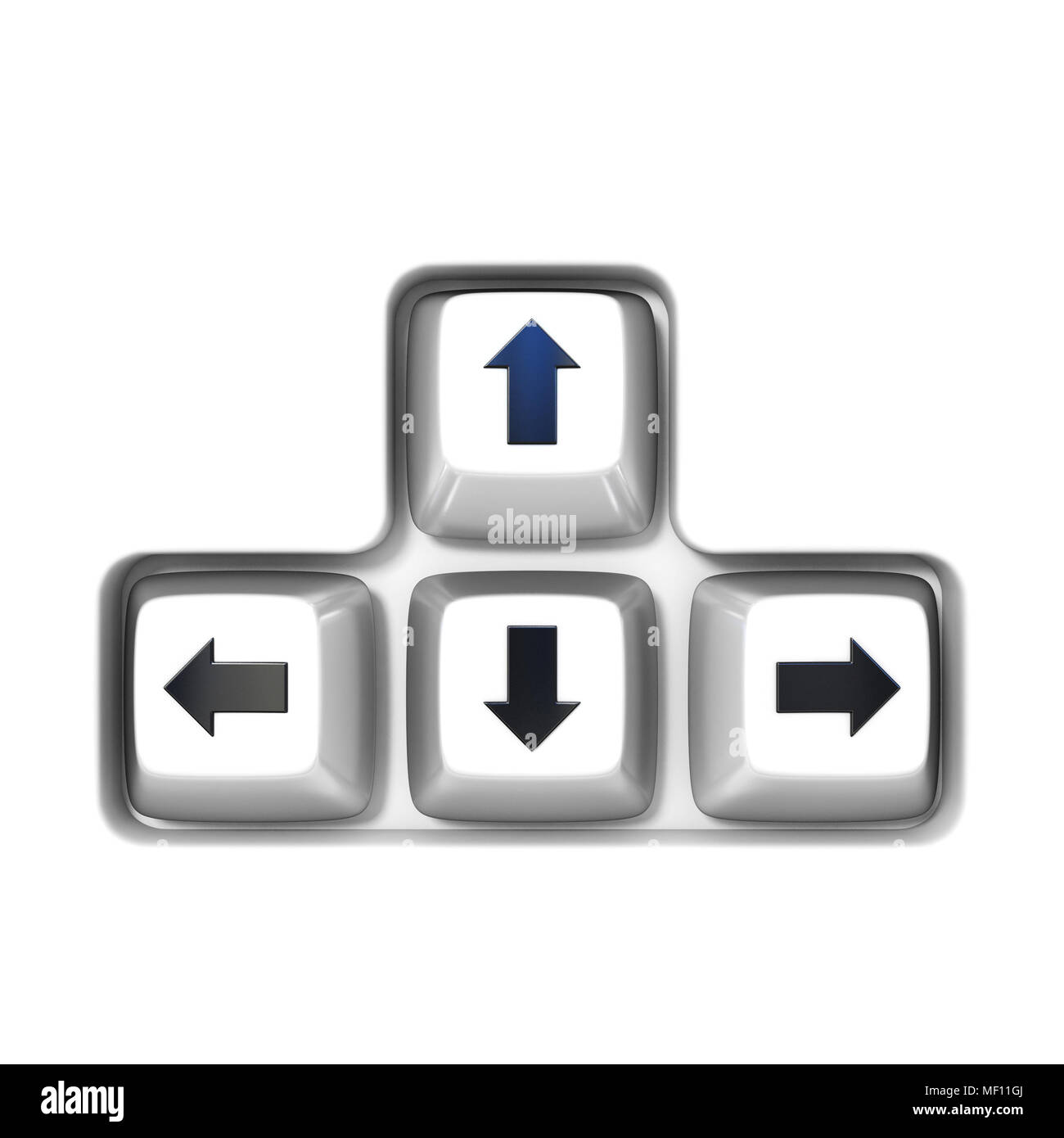 Keyboard Arrow Cursor Keys Buttons 3d Rendering Illustration