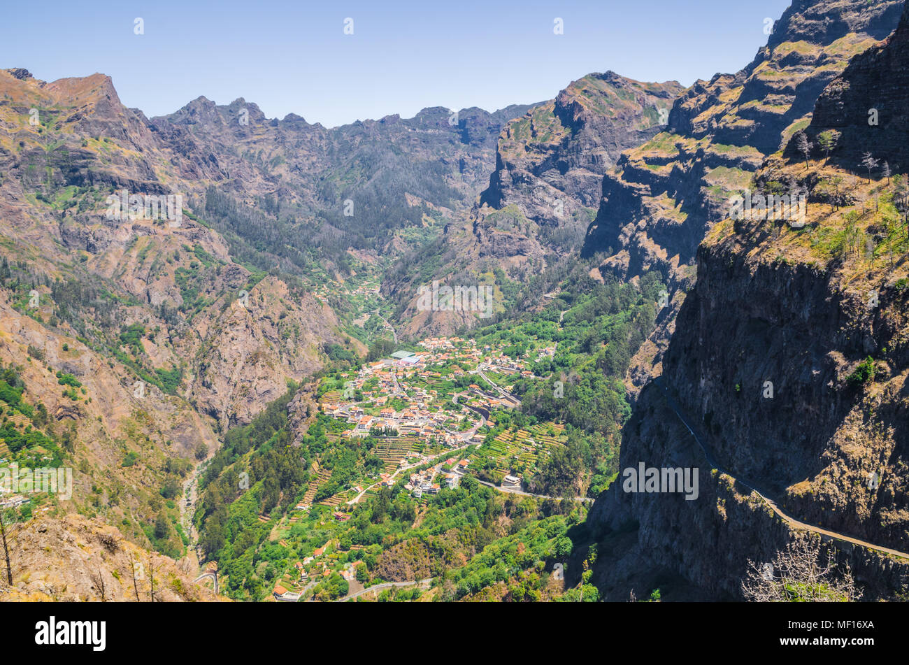 Curral das Freiras on Madeira Island, Portugal Stock Photo