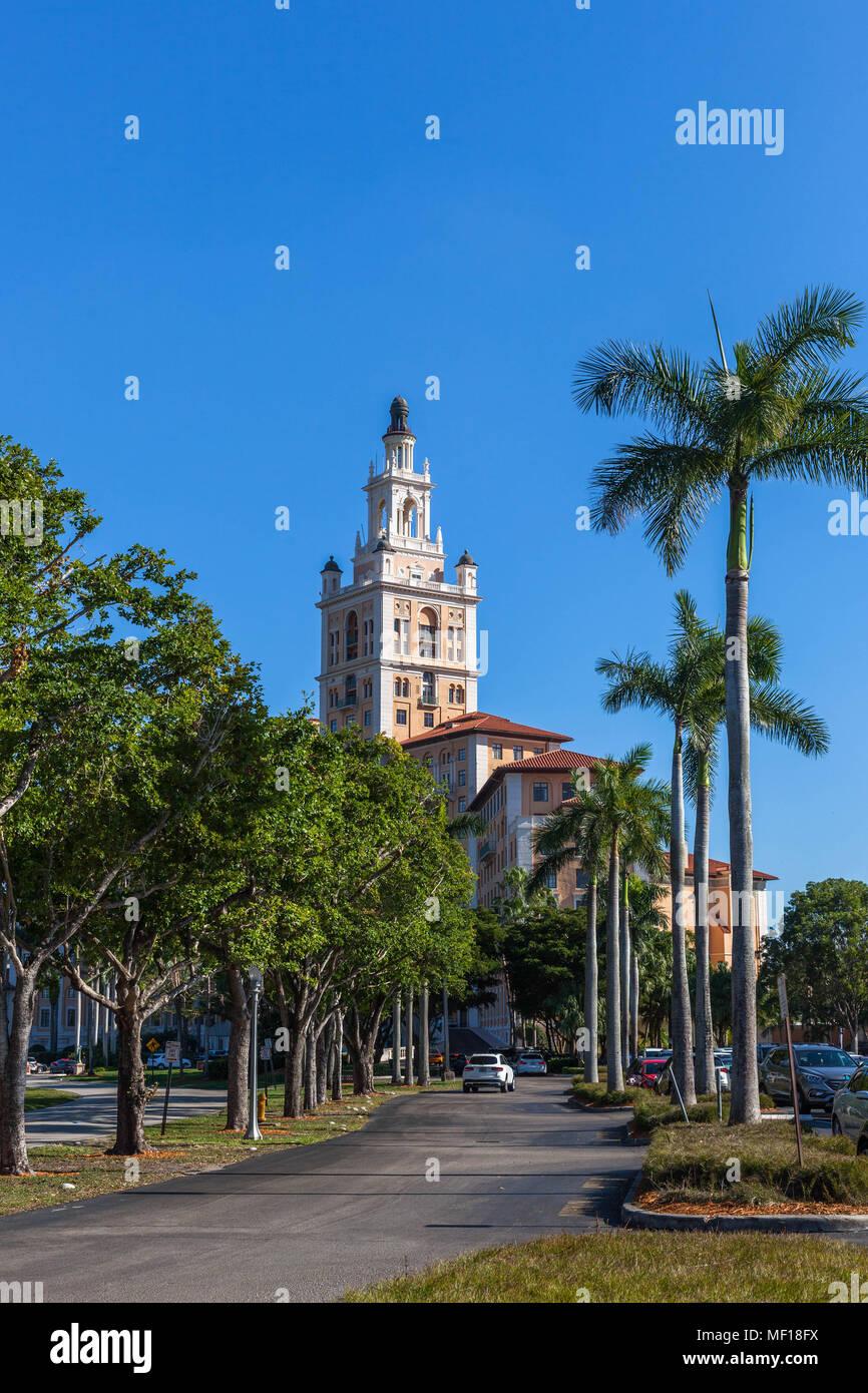 The Miami Biltmore Hotel, Coral Gable, Miami-Dade County, Florida, USA. - Stock Image