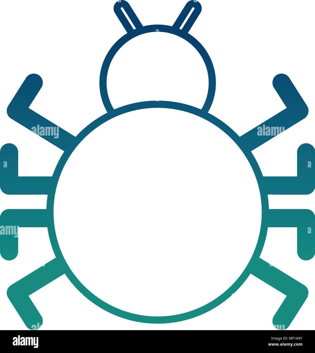 bug virus attack icon - Stock Image