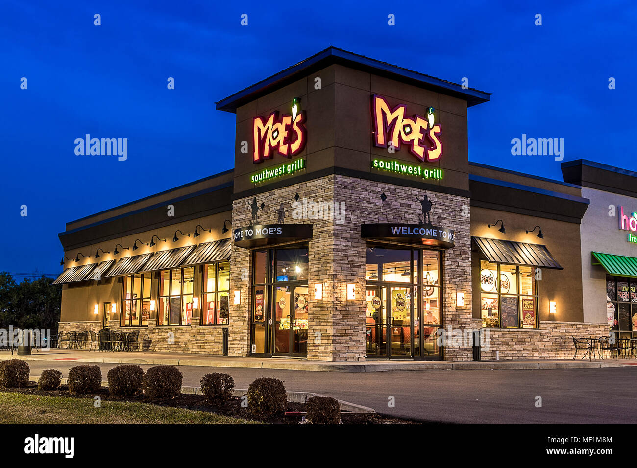 Utica Ny December 02 2017 A Moes Southwest Grill Restaurant