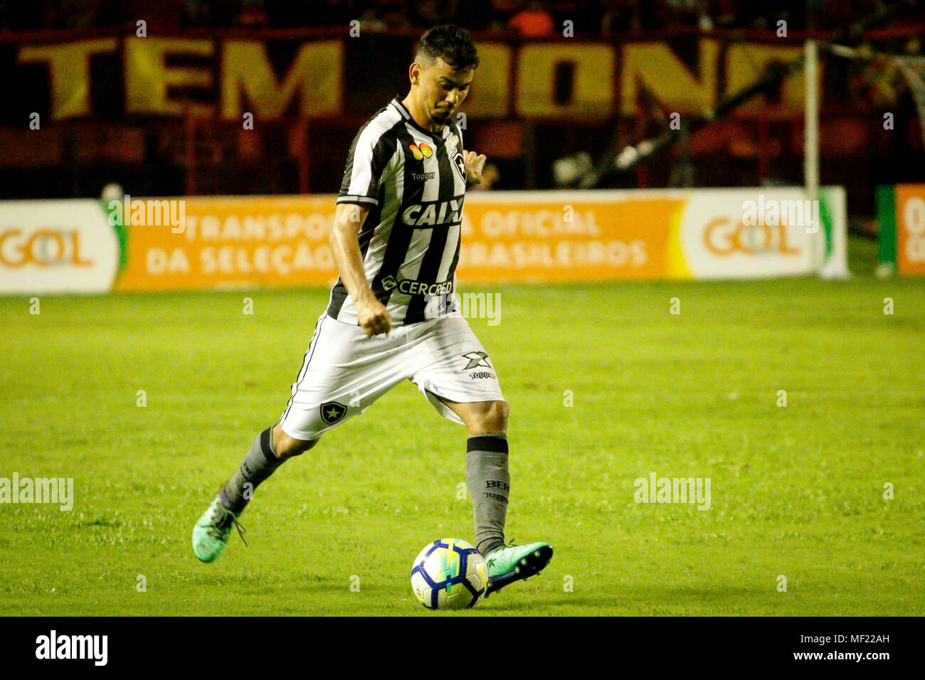 Recife Brazil 23rd Apr 2018 Rodrigo Lindoso Botafogo Player During Sport X Botafogo Held This Monday