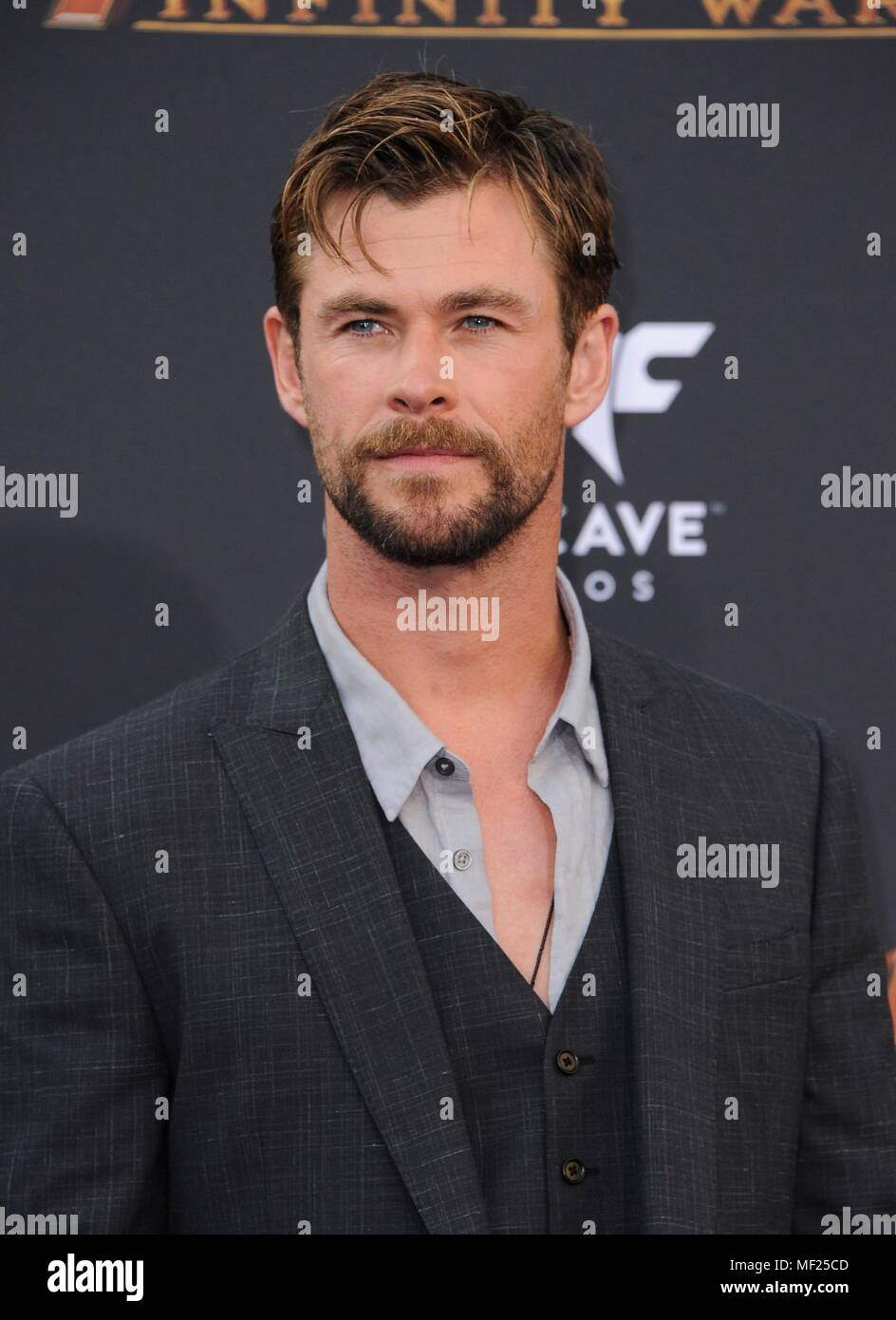 Chris Hemsworth at arrivals for AVENGERS: INFINITY WAR Premiere - Part 2, Hollywood, Los Angeles, CA April 23, 2018. Photo By: Elizabeth Goodenough/Everett Collection Stock Photo