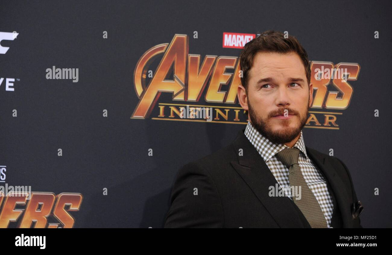 Chris Pratt at arrivals for AVENGERS: INFINITY WAR Premiere - Part 2, Hollywood, Los Angeles, CA April 23, 2018. Photo By: Elizabeth Goodenough/Everett Collection Stock Photo