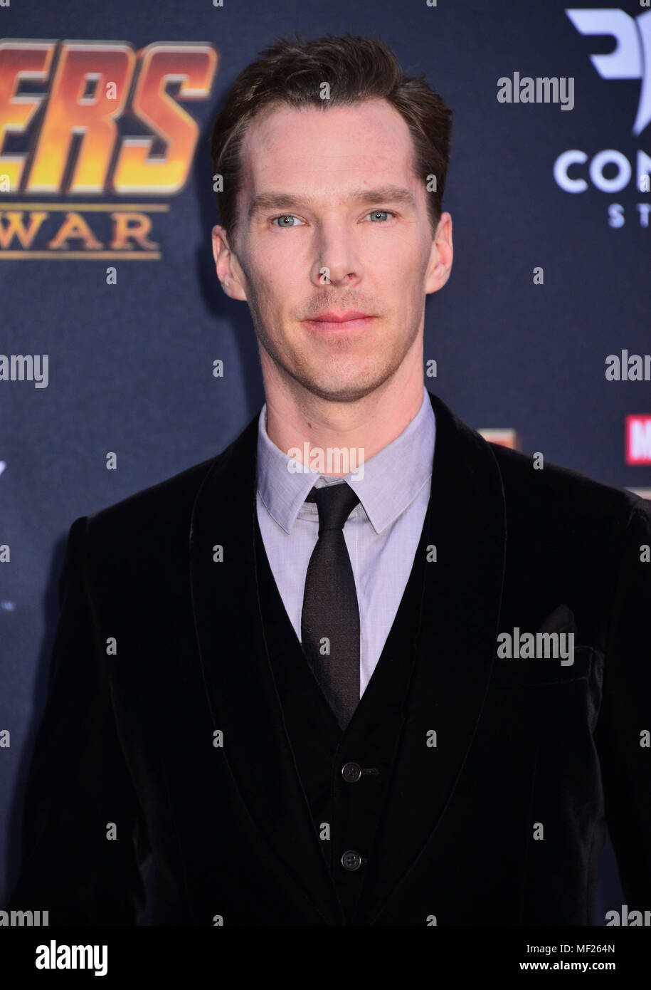 Los Angeles, California, USA. 23rd April, 2018. Benedict Cumberbatch 058 attends the premiere of Disney and Marvel's 'Avengers: Infinity War' on April 23, 2018 in Los Angeles, California. Credit: Tsuni / USA/Alamy Live News Stock Photo