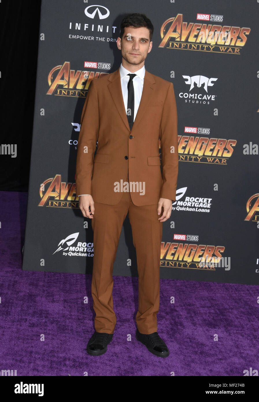 Los Angeles, California, USA. 23rd April, 2018. Actor Jeff Ward attends the World Premiere of Disney and Marvels 'Avengers: Infinity War' on April 23, 2018 in Los Angeles, California. Photo by Barry King/Alamy Live News Stock Photo