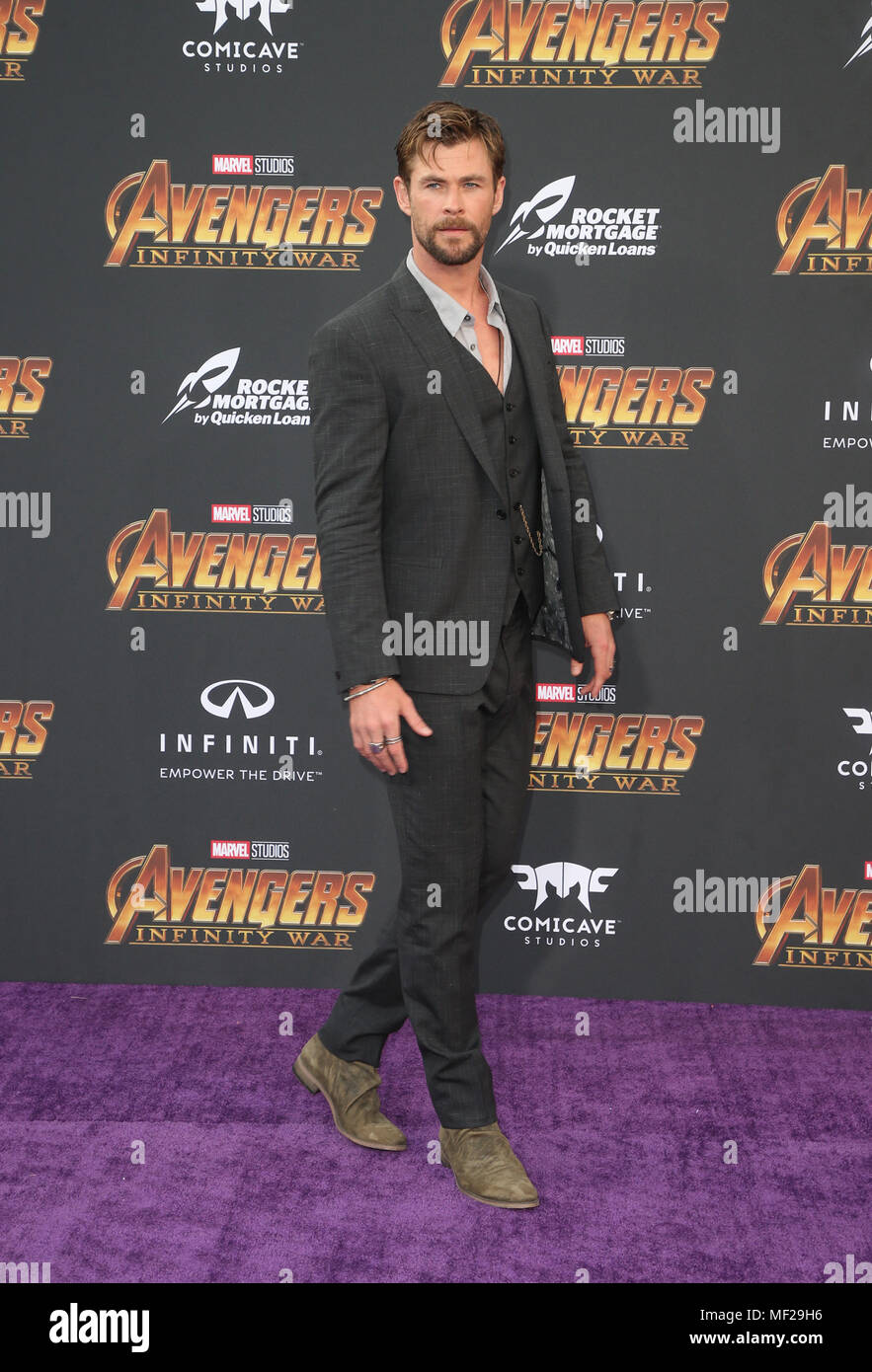 HOLLYWOOD, CA - APRIL 23: Chris Hemsworth, at the World Premiere of Avengers: Infinity War at El Capitan Theatre in Los Angeles, California on April 23, 2018. Credit: Faye Sadou/MediaPunch Stock Photo