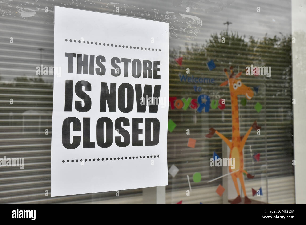 Brent Cross London Uk 24th April 2018 Toys R Us Has Now Closed