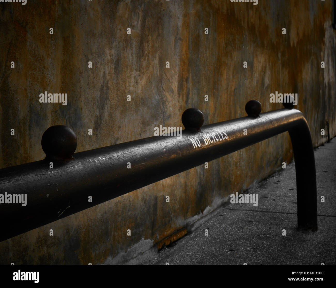 Old St Augustine side rail - Stock Image