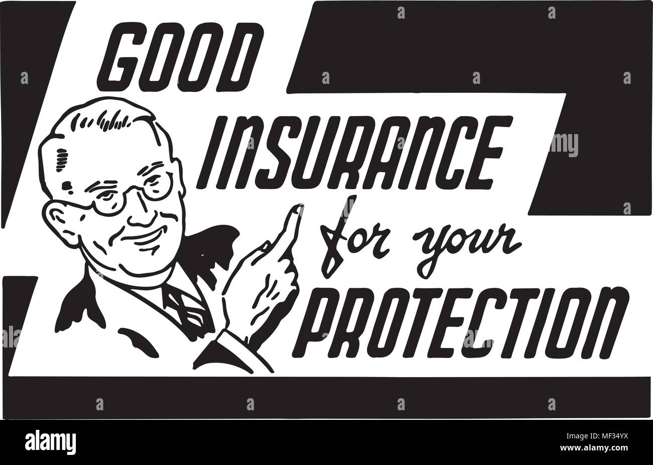 Good Insurance - Retro Ad Art Banner Stock Vector