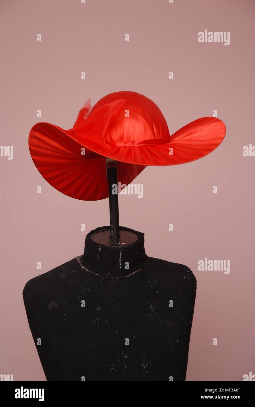 red female hat - Stock Image