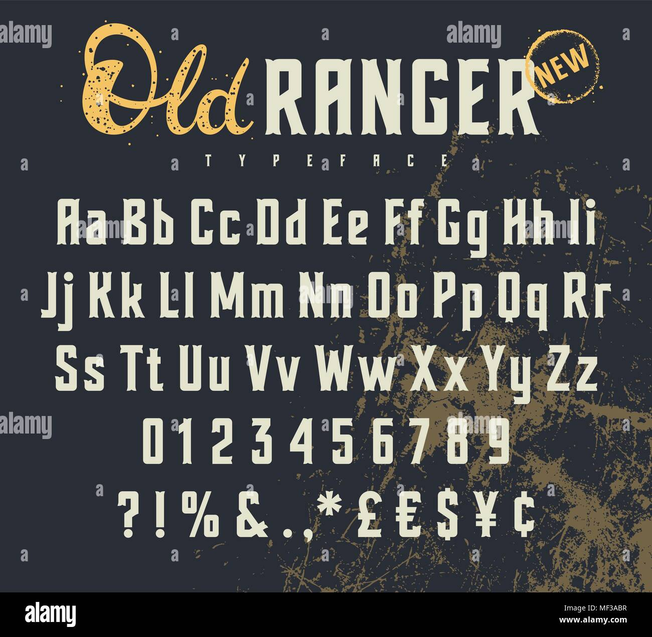 Vintage Vector Alphabet In The Western Style Wild West Font