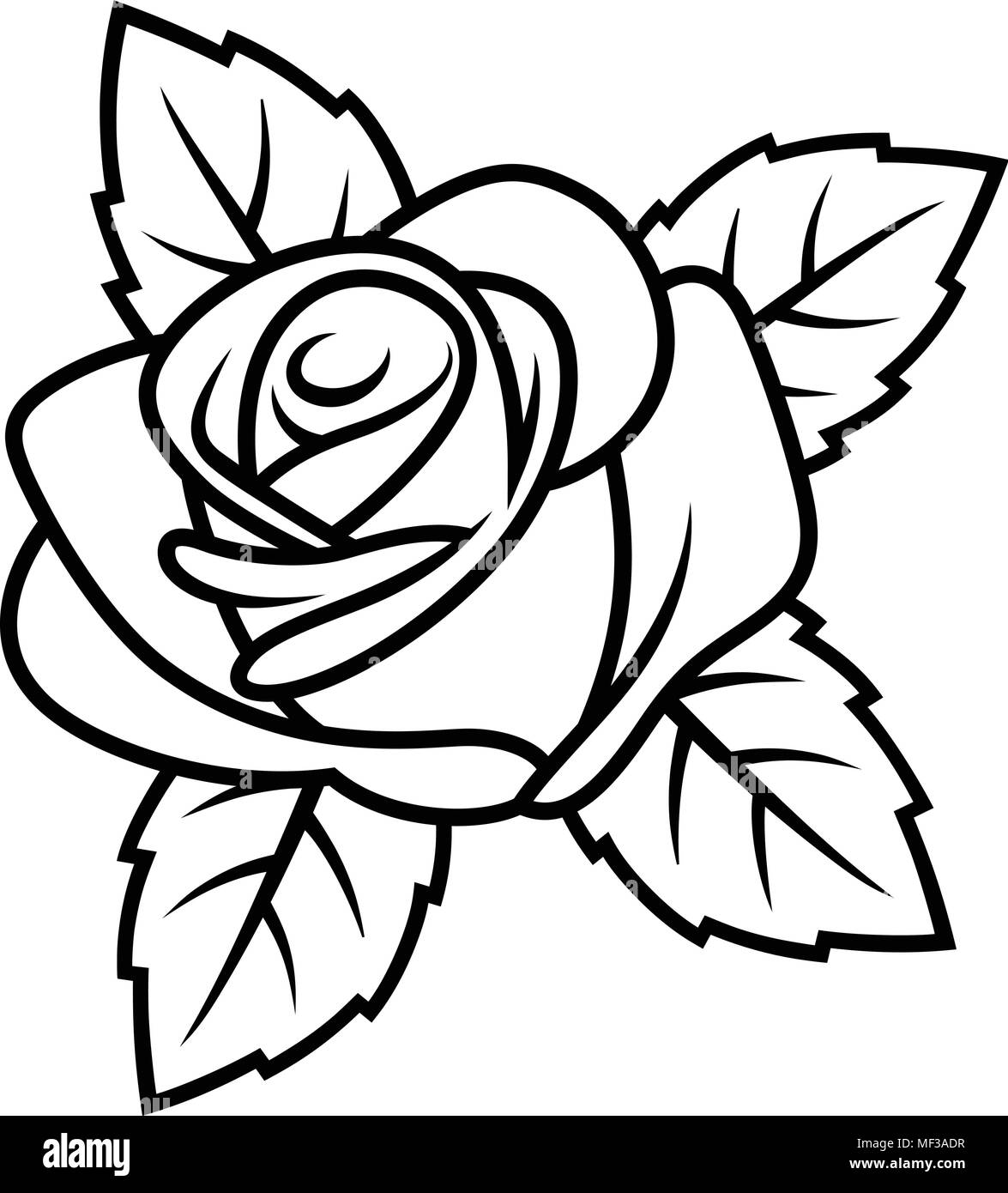 Sketch of rose isolated on white background use for fabric design sketch of rose isolated on white background use for fabric design tattoo pattern and decorating greeting cards invitations m4hsunfo