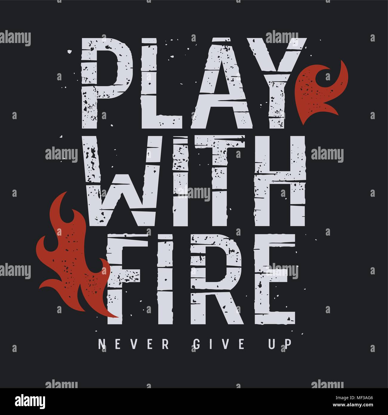 Vector Illustration With Fire Flame T Shirt Print Graphics