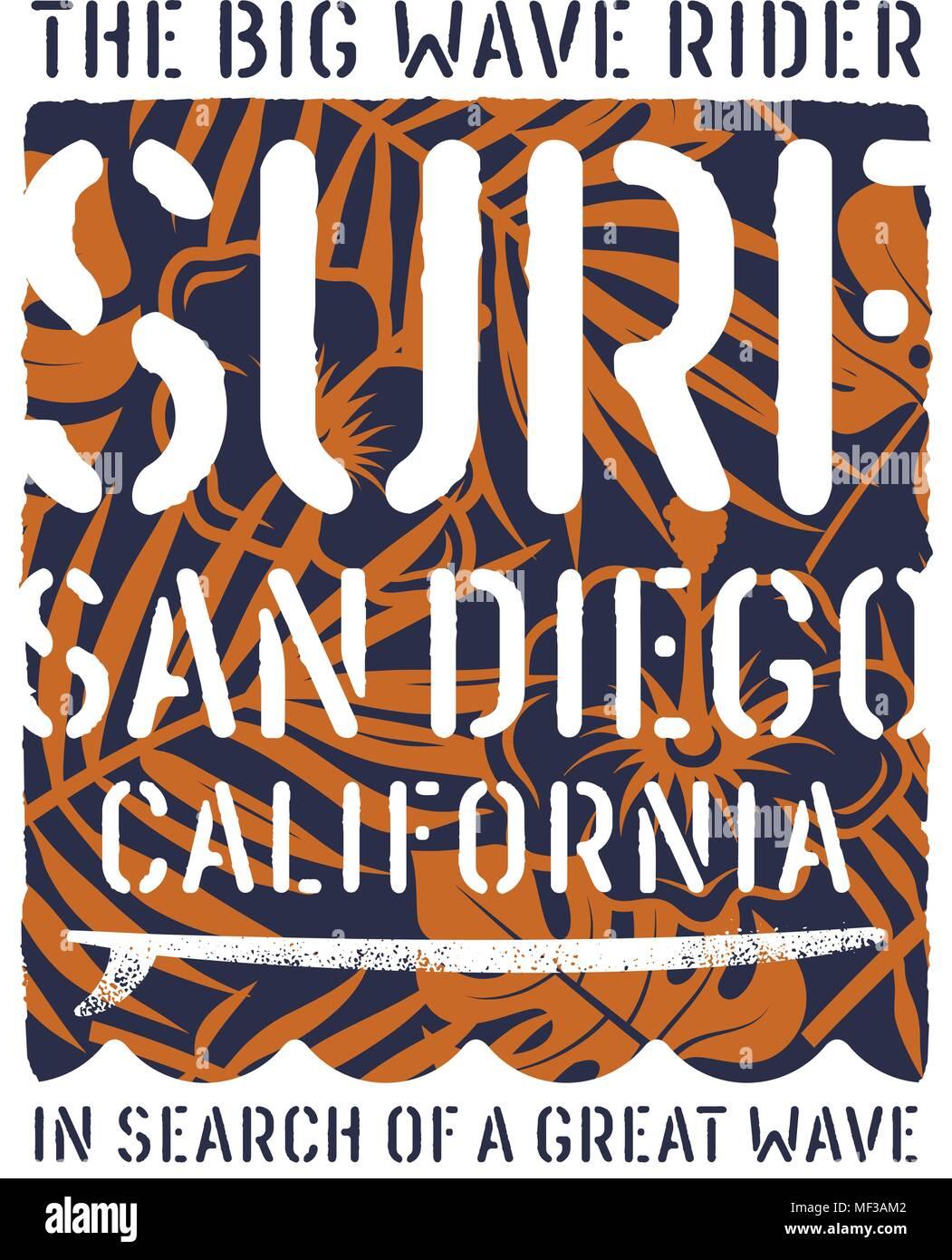 da422d28252f5 Surfing artwork. California surfing t-shirt design. Vintage graphic ...