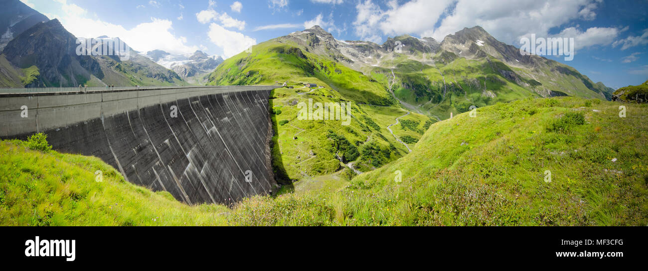 Austria, Kaprun, Mooserboden dam wall Stock Photo