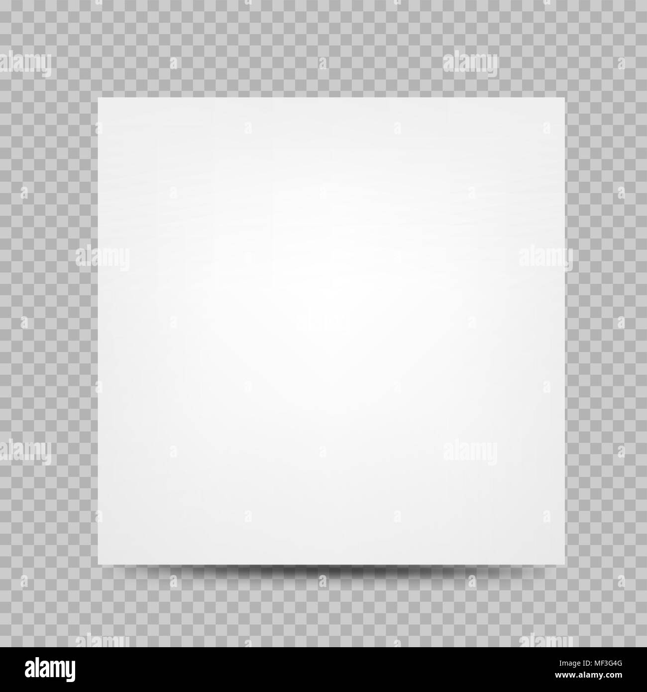 white paper square banner cover empty template with shadow on
