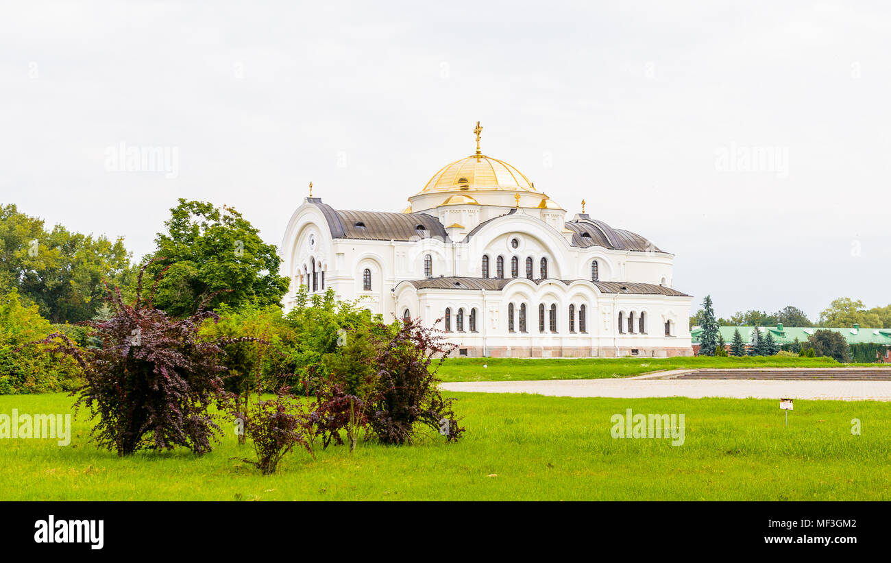 Cathedral of St. Nicholas of the Brest Fortress, Brest, Belarus. It is one of the Soviet World War II war monuments commemorating the Soviet resistanc - Stock Image