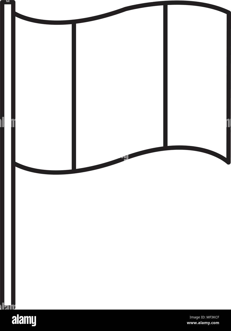 line flag national patriot symbol design vector illustration - Stock Image