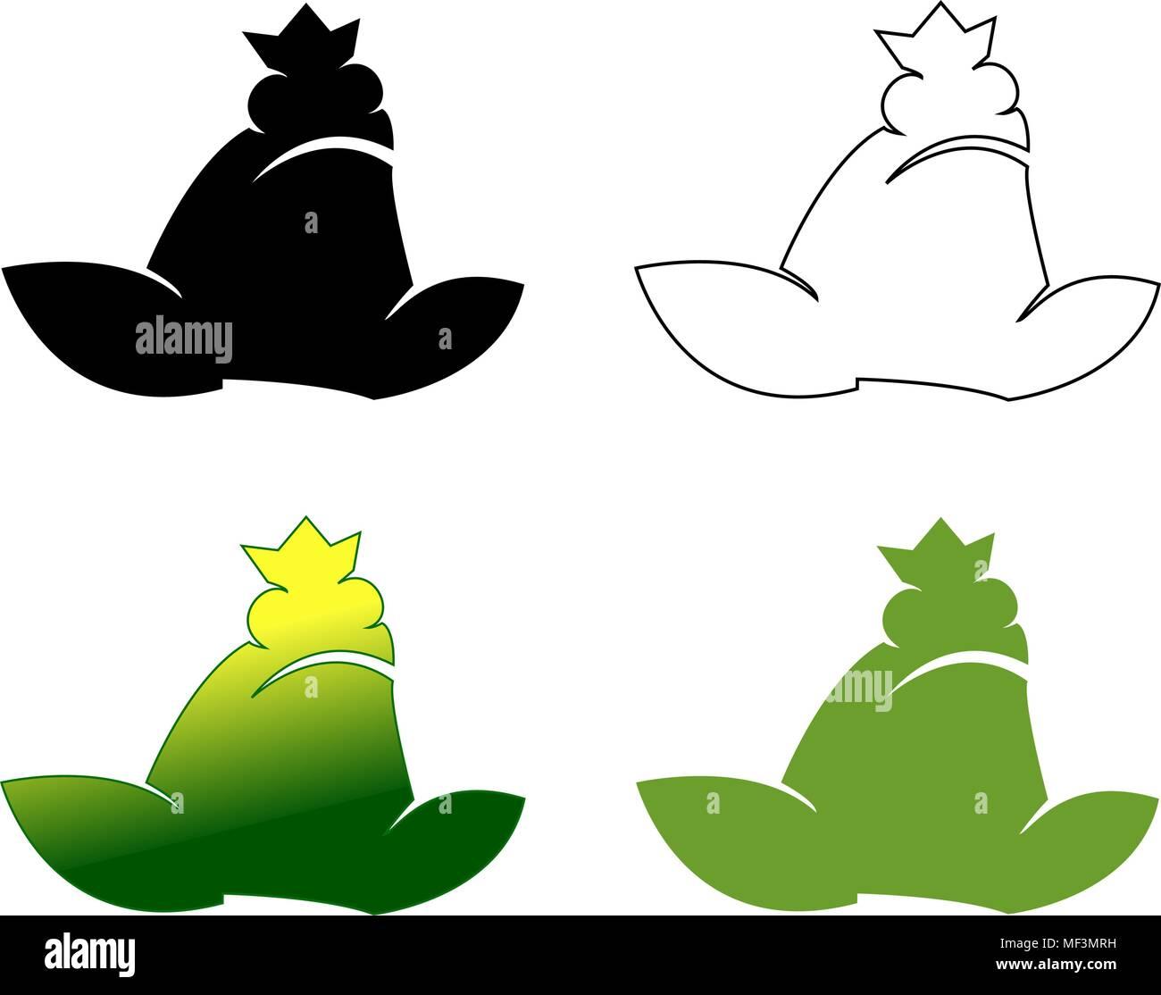 Set of frog logotypes vector illustration gradient - Stock Image