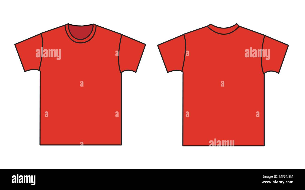 Blank T Shirt Template Front And Back Stock Vector Art