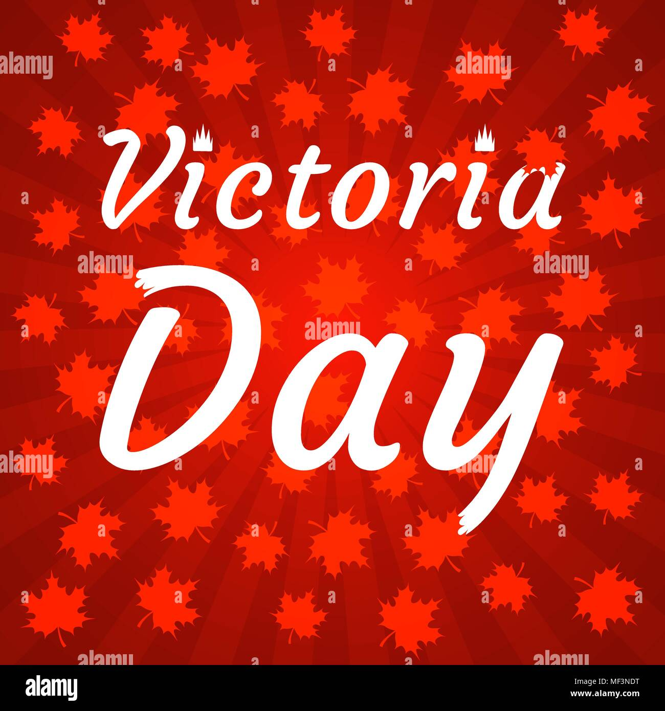 Concept Of Happy Victoria Day In Canada Red Shades Rays From The