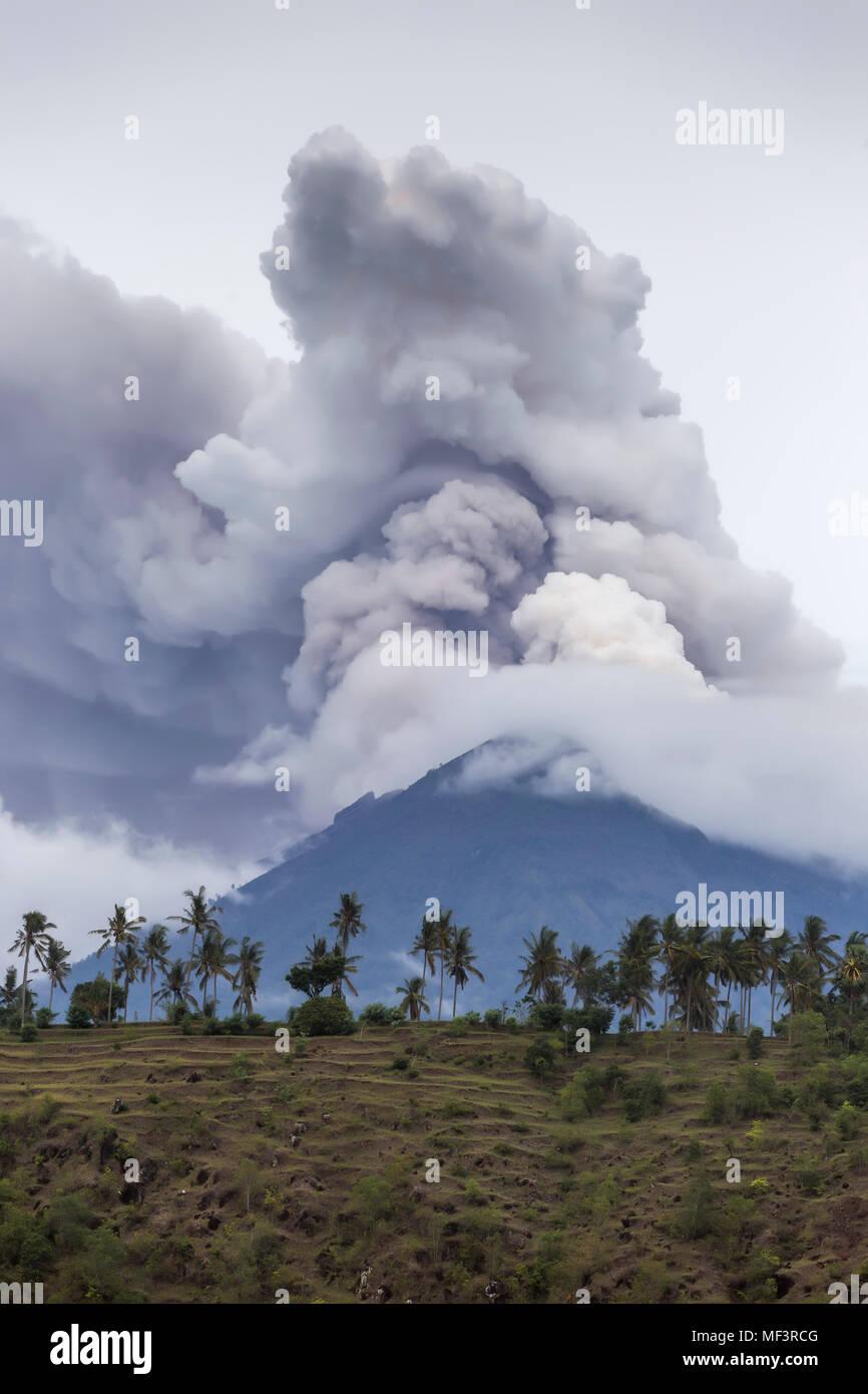Indonesia, Bali, Volcano Agung - Stock Image