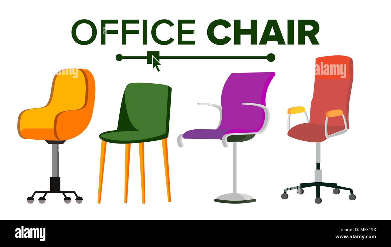 designer office desk isolated objects top view. Furniture. Set Modern Chair Objects. House Scene Creator. Isolated Flat Illustration Designer Office Desk Objects Top View A