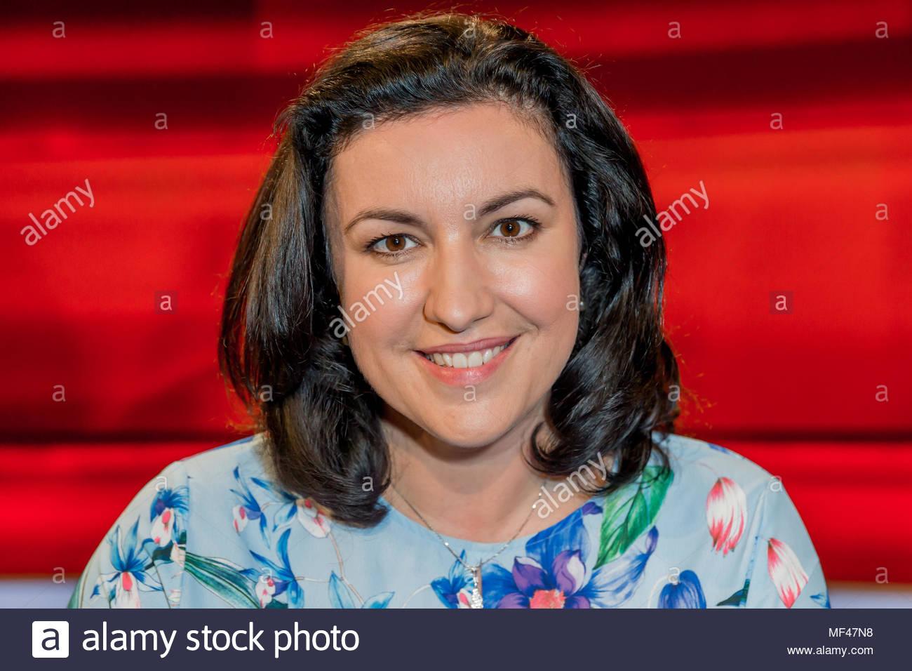 Dorothee Baer, CSU, Staatsministerin für Digitalisierung bei der Bundeskanzlerin im Fernsehstudio bei Hart aber fair im Studio Adlershof in Berlin. - Stock Image