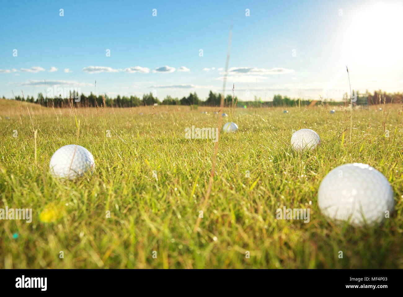 Golf green course in the countryside - Stock Image