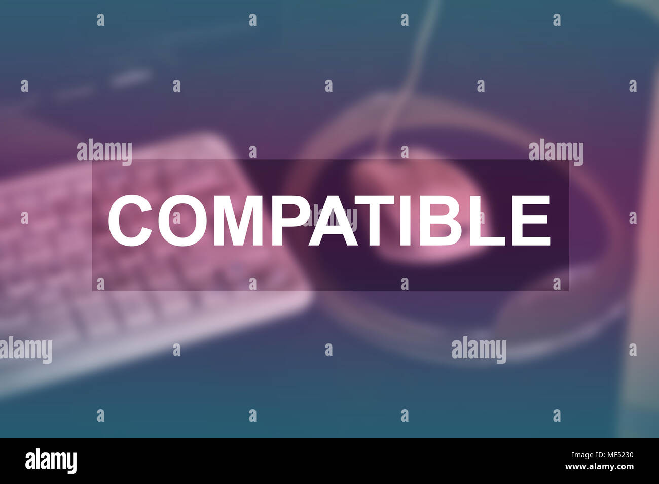 Compatible word with blurring business background - Stock Image