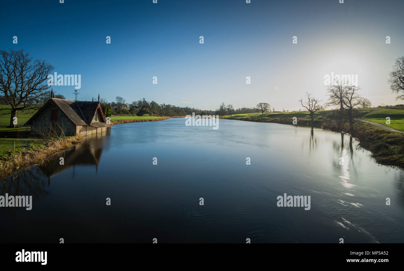 Ireland, Kildare, Maynooth, Carton boathouse - Stock Image