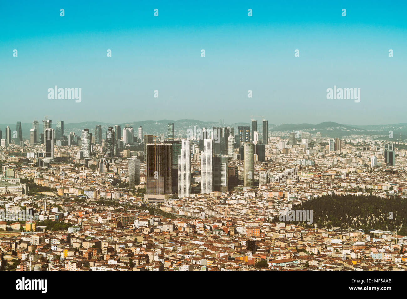 Turkey, Istanbul, Financial center - Stock Image