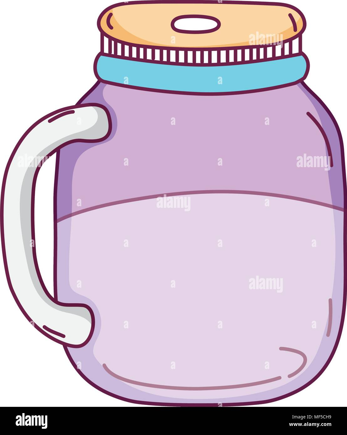 crystal bottle transparent preserve object - Stock Image