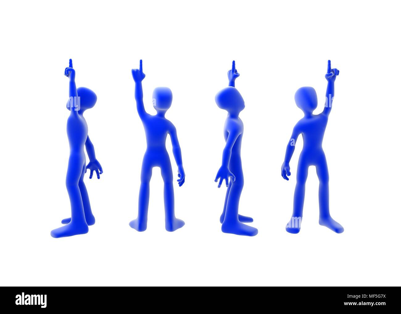 a 3d figure pointing up 4 side view stock photo 181446046 alamy